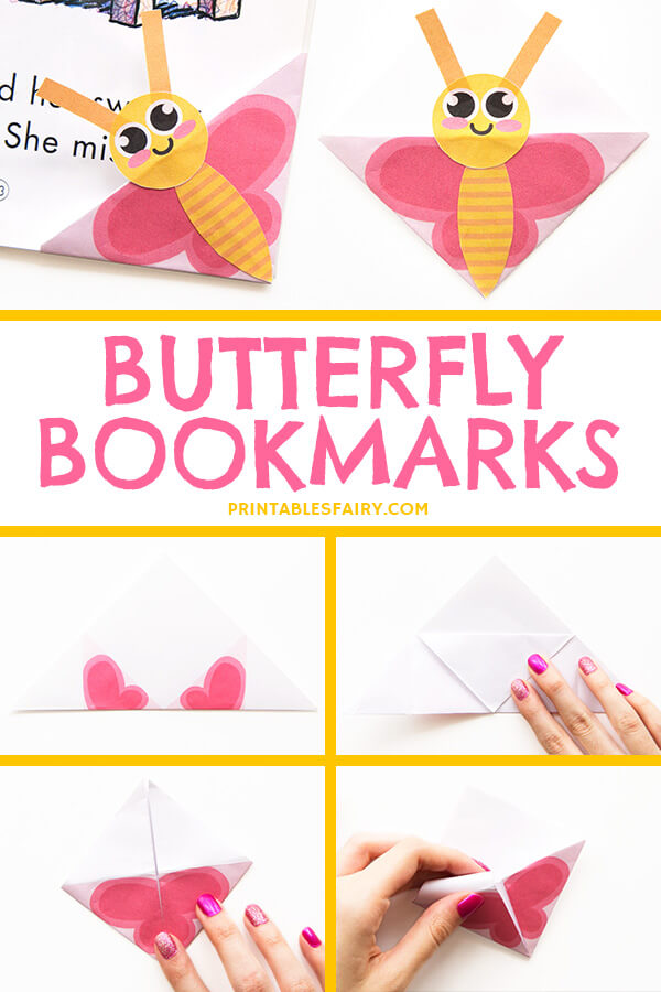 Paper Butterfly Bookmarks