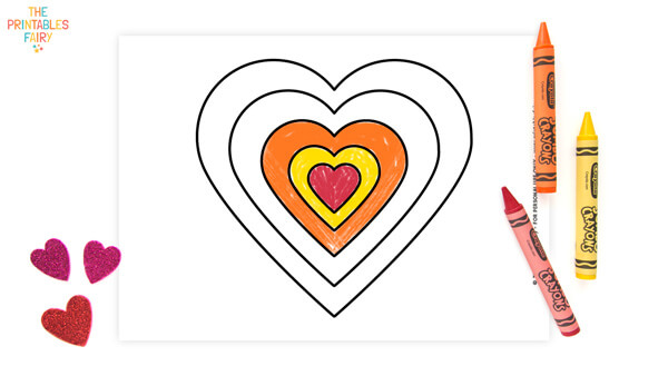 Heart within heart Coloring Page