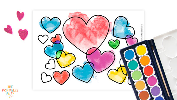 Cute Hearts Coloring Page