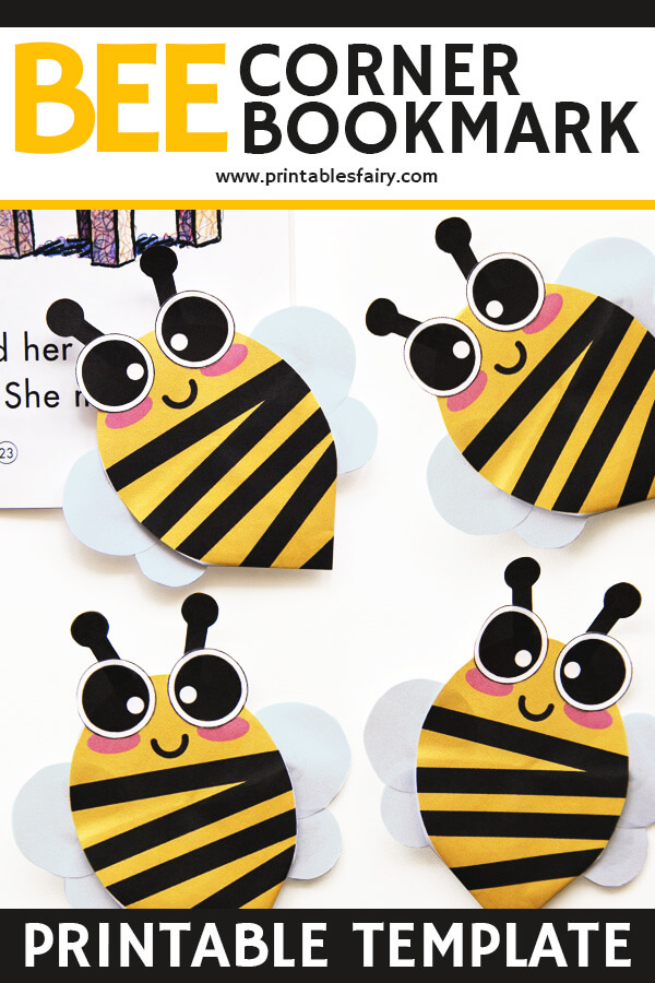 Bee Corner Bookmarks Printable Template