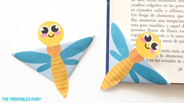 DIY Dragonfly Bookmarks
