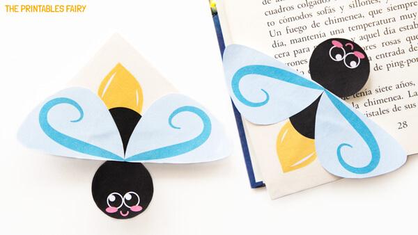 DIY firefly corner bookmarks