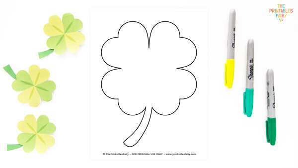Large Clover Template