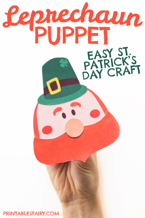 St. Patrick's Day Leprechaun Puppet