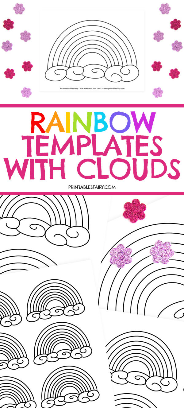 Rainbow Templates With Clouds