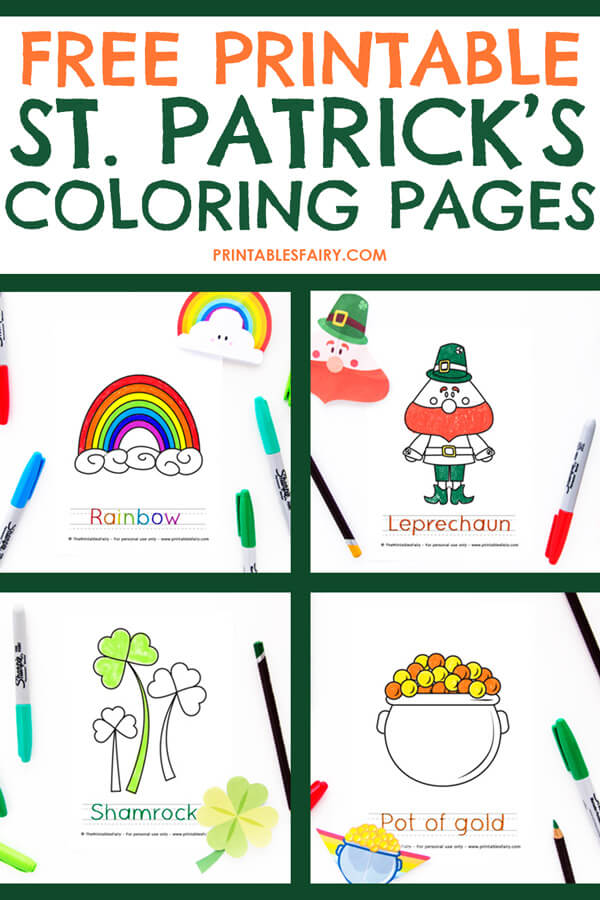St. Patrick's Day Free Printable Tracing Sheets