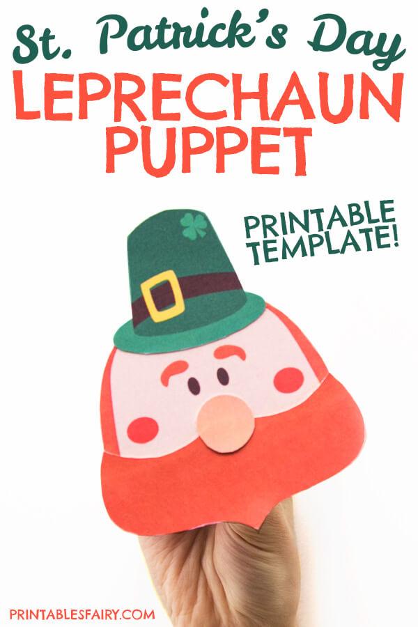Printable Leprechaun Puppet