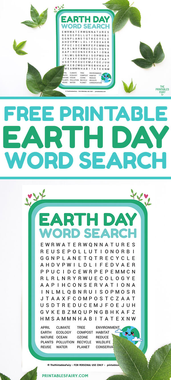 Free Printable Earth Day Word Search