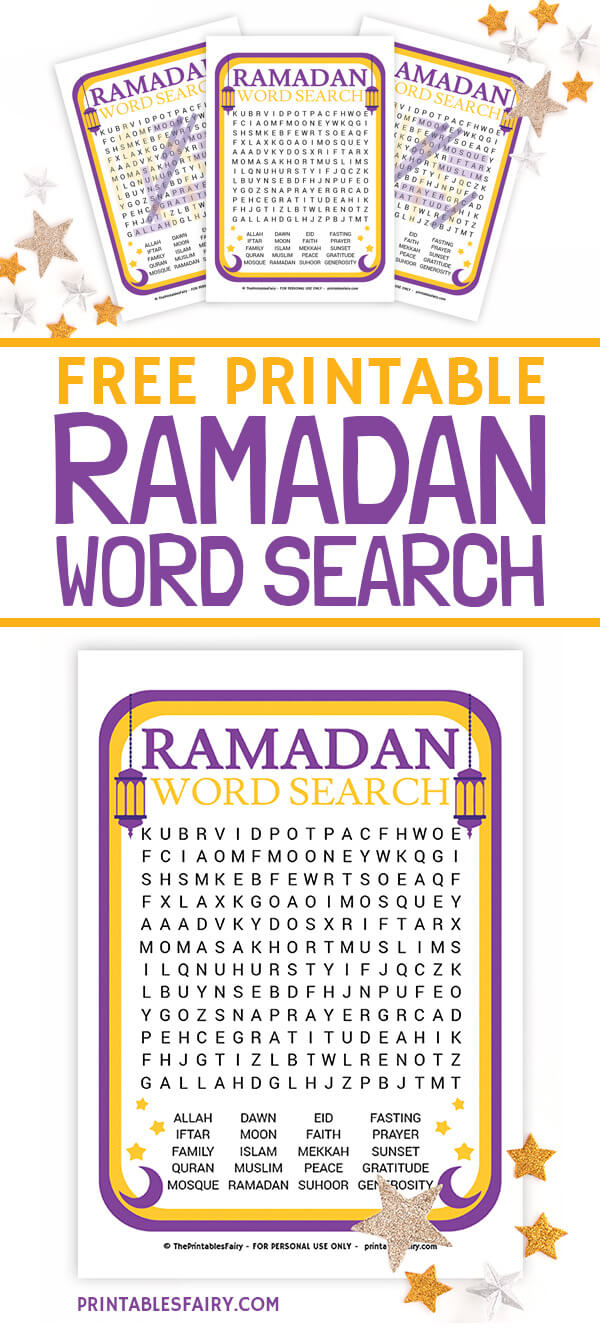 Ramadan Word Search for Kids
