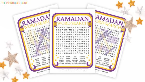 Free Printable Ramadan Word Search