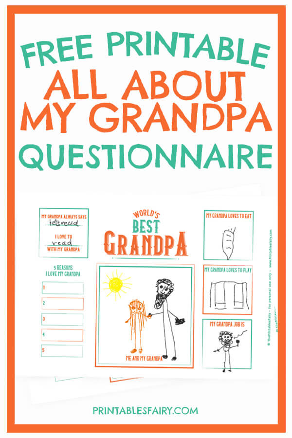 Free Printable All About My Grabdpa