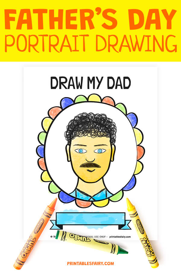 Father's Day Portrait Drawing
