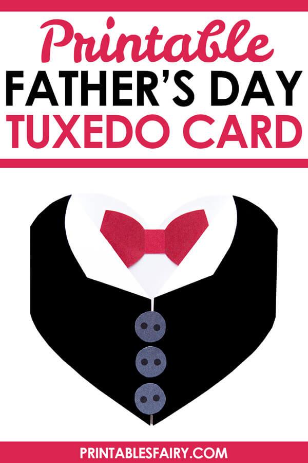 Father's Day Tuxedo Heart Card