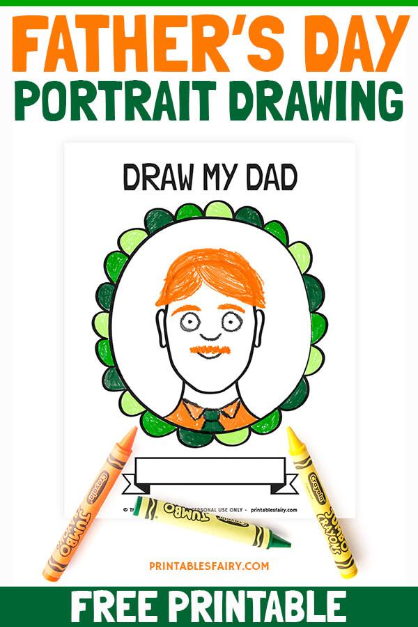 Dad Portrait Drawing Activity