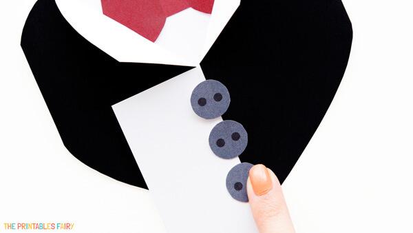 Glue buttons