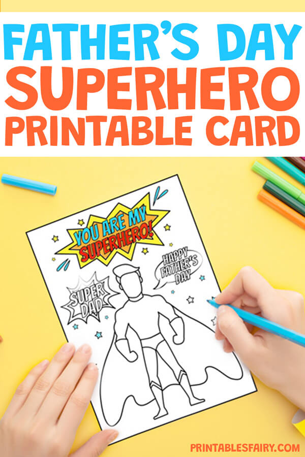 Father's Day Superhero Printable Card