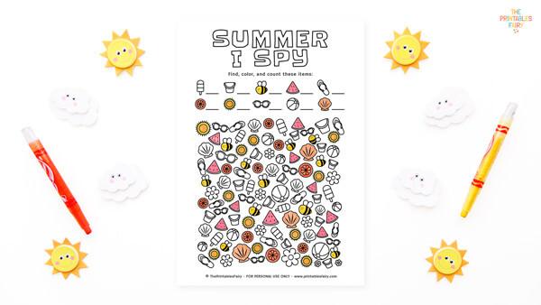 Summer I Spy for Kids