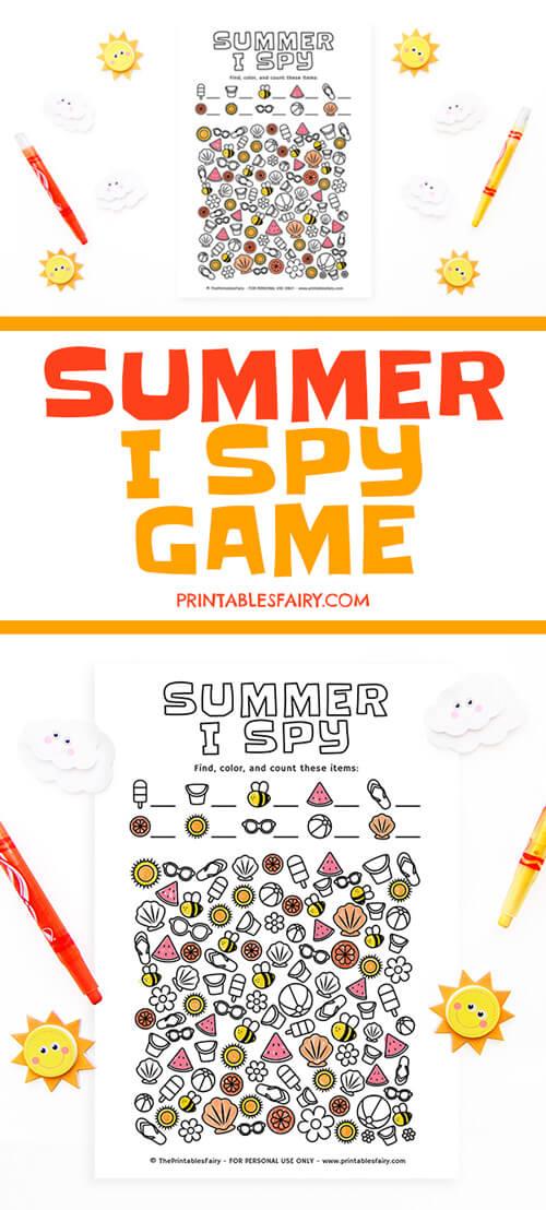 I Spy Summer Game