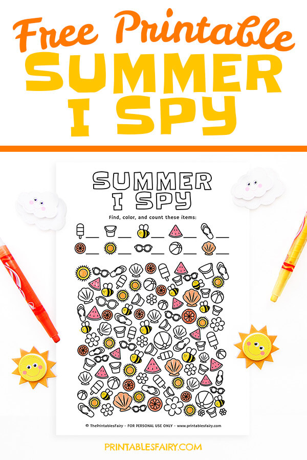 Free Printable Summer I Spy