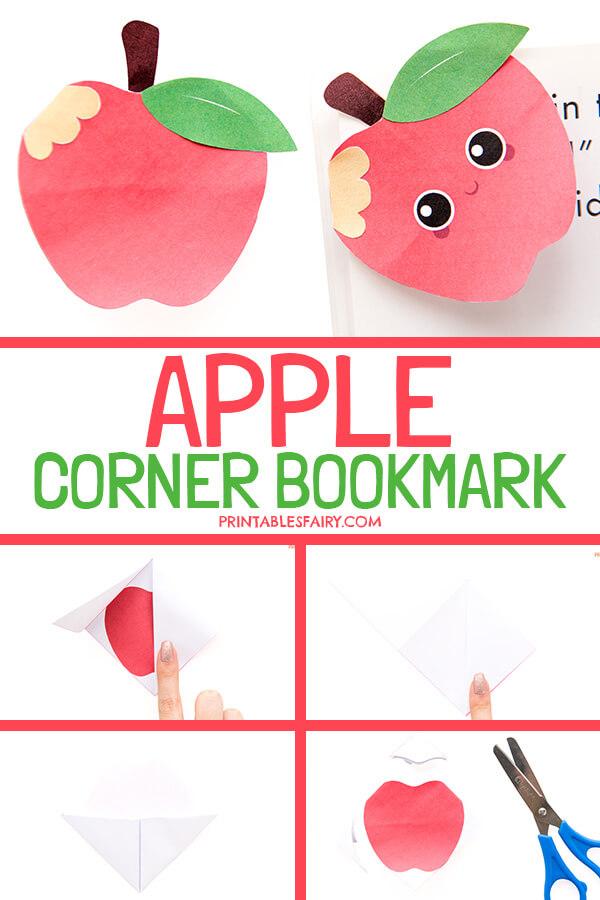 DIY Apple Bookmark Corner