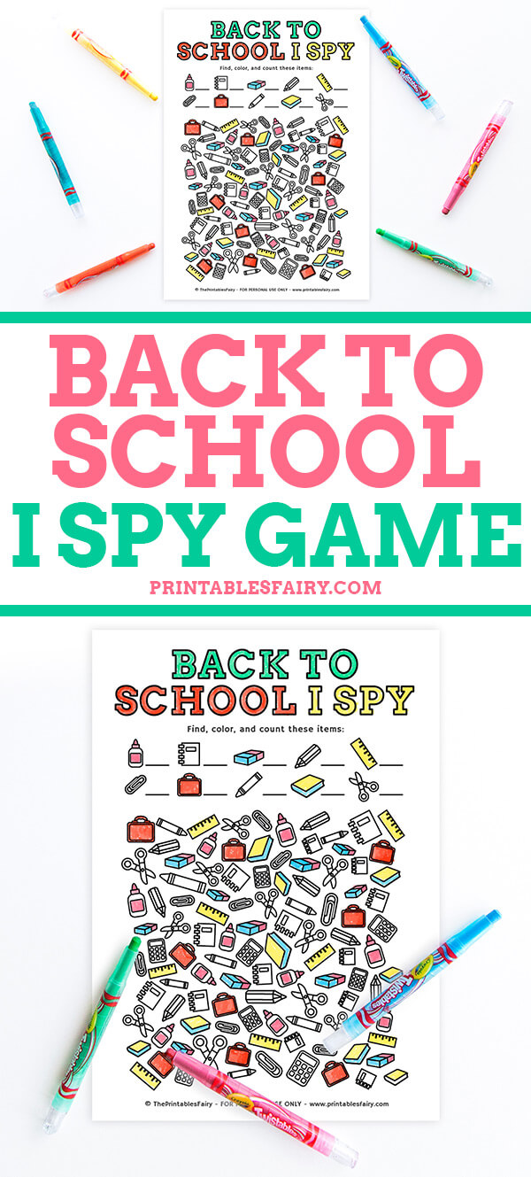 Back to School I Spy Game