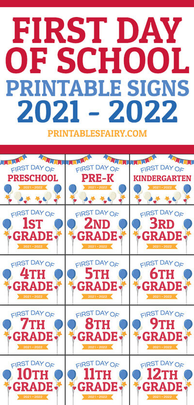 Back to School 2021 - 2022 Signs