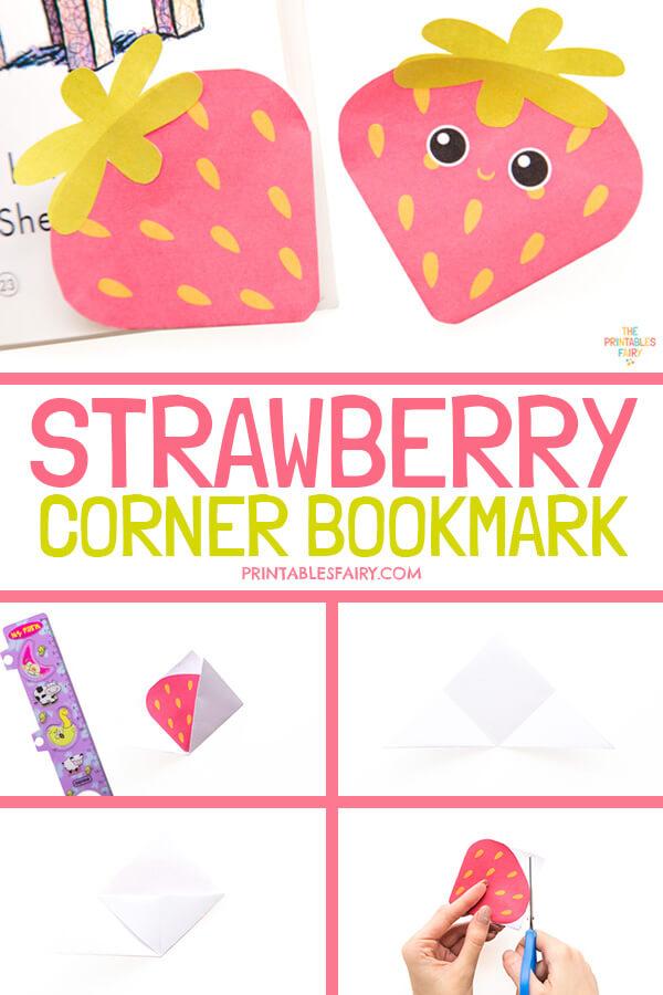 How to make a Strawberry Corner Bookmark