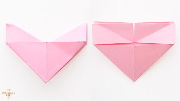 Fold backwards and unfold