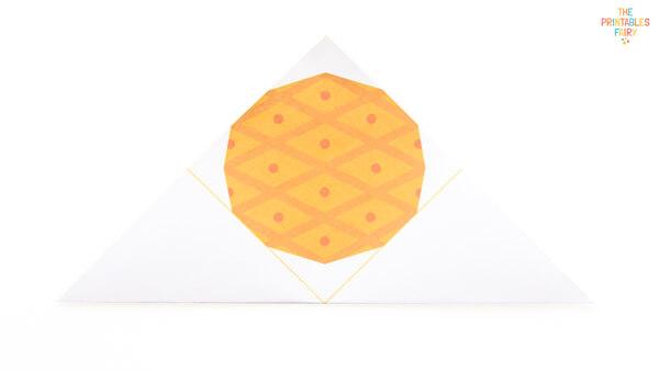Fold into a triangle