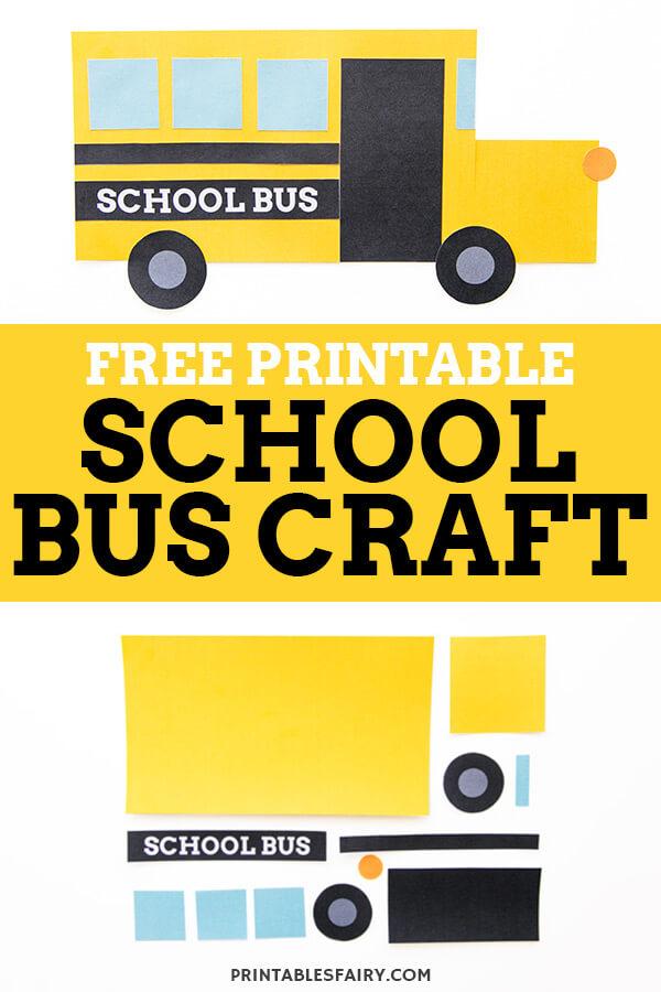 Free Printable School Bus Craft