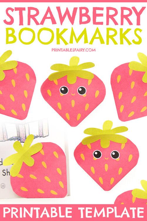 Strawberry Bookmarks