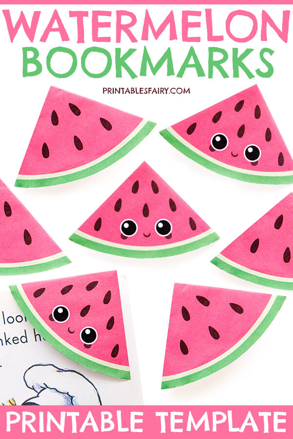 How to Make a Watermelon Bookmark