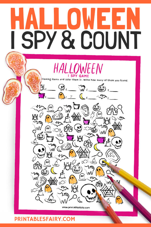 Free Printable Halloween I Spy