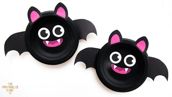 Bat Paper Plate Craft