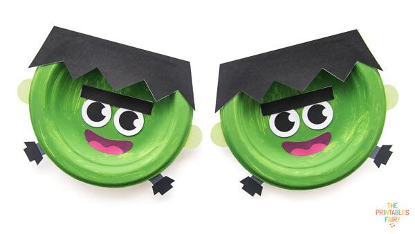 Frankenstein Paper Plate Crafts for Kids