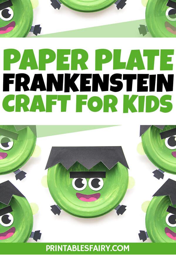 Paper Plate Frankenstein Craft For Kids
