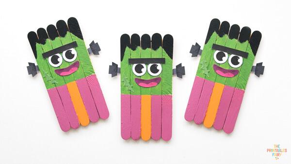 Frankenstein Popsicle Sticks Craft