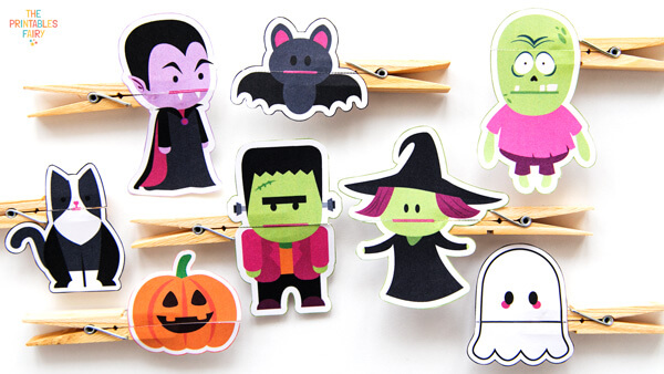 DIY Halloween Clothespin Puppets