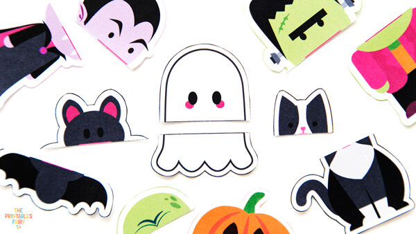 Cut out your Halloween puppets template