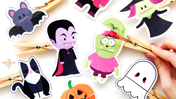 Clothespin Halloween Puppets