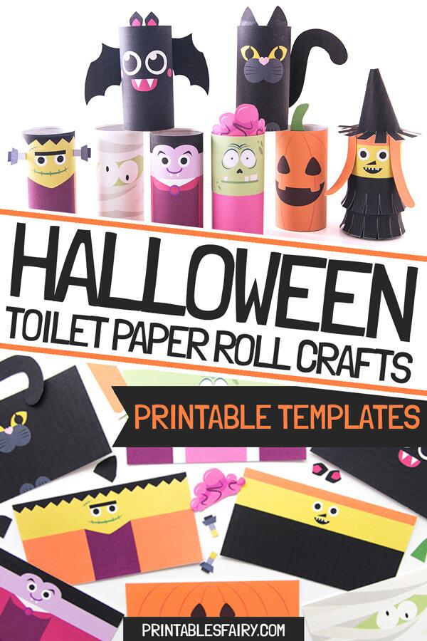 Halloween Toilet Paper Rolls Crafts