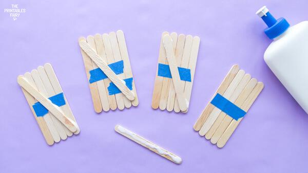 Glue a craft stick diagonally