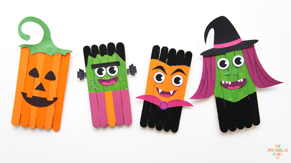 Adorable Popsicle Stick Halloween Crafts