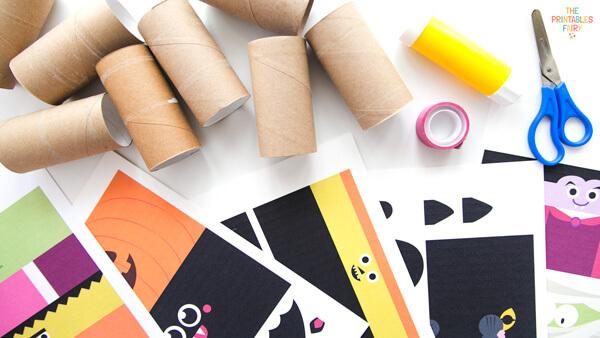 Halloween Toilet Paper Rolls Craft Materials
