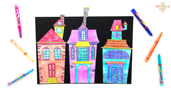 Haunted House Card for Kids