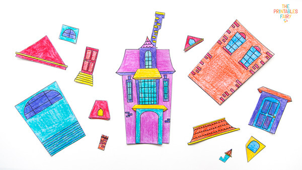 Haunted House Craft for Preschoolers