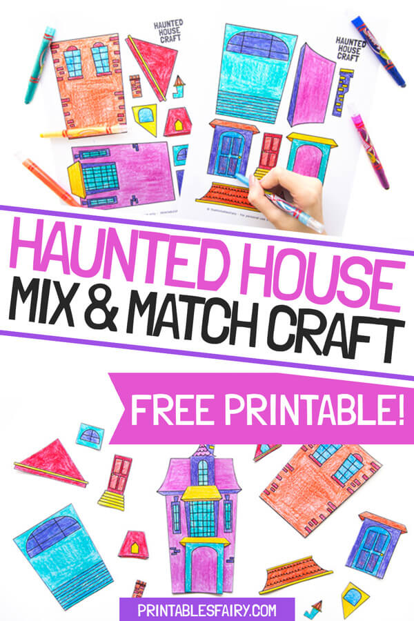 Haunted House Mix and Match Craft