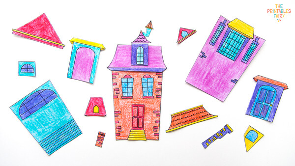 Use the Haunted House coloring pages as a puzzle for kids