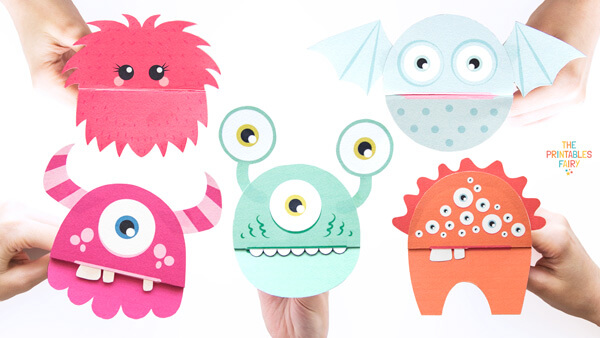 Printable Monster Puppets