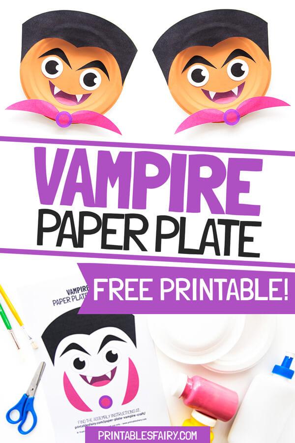 Vampire Paper Plate Craft